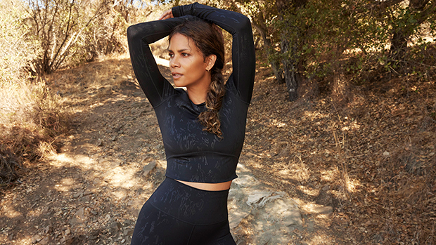 Halle Berry, 55, Rocks Cropped Shirt With Leggings & More Activewear Looks For Sweaty Betty